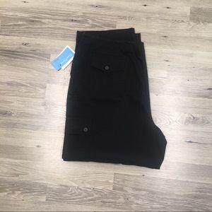 EVAN PICONE Black Cargo Pants Plus Size 18W